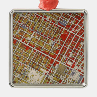 WPA map of central Los Angeles Christmas Tree Ornaments