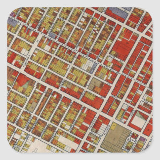 WPA map of central Los Angeles Square Sticker