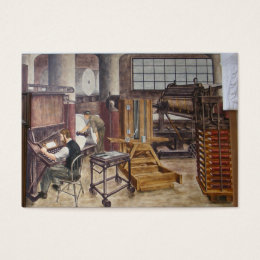 History painting business cards templates zazzle wpa murals 7 atc business card reheart Images