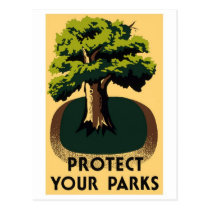 WPA National Parks Poster Postcard