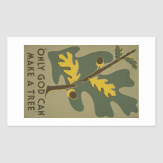 WPA - Nature Rectangular Sticker