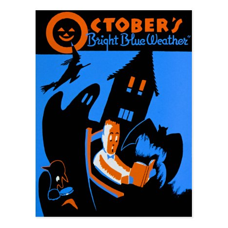 WPA, October Is A Great Time To Read Postcard