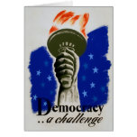 "WPA Poster ""Democracy.... A Challenge"" Card"