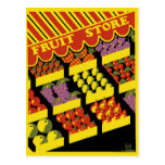 "WPA Poster - ""Fruit Store"" Postcard"