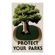 WPA Poster Protect Our Parks