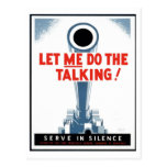 """WPA Posters - """"Let Me Do the Talking"""" Postcard"""