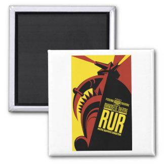 """WPA Posters - """"R.U.R."""" Magnet"""