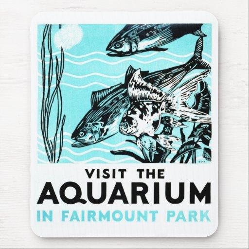 """WPA Posters - """"Visit the Aquarium in Fairmount Par Mouse Pad"""