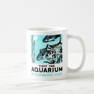 "WPA Posters - ""Visit the Aquarium in Fairmount Par Mug"