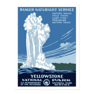 "WPA Posters - ""Yellowstone"" Postcard"