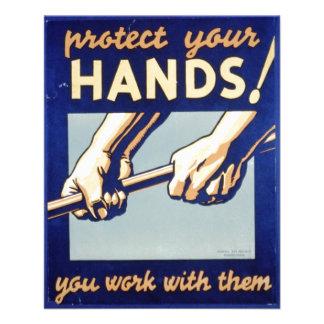 WPA - proteja sus manos Tarjetón