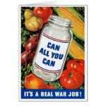 WPA- pueden todos lo que usted puede Tarjeta De Felicitación