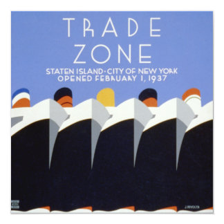 WPA Staten Island New York Poster Card