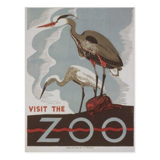 WPA - The Zoo Post Card