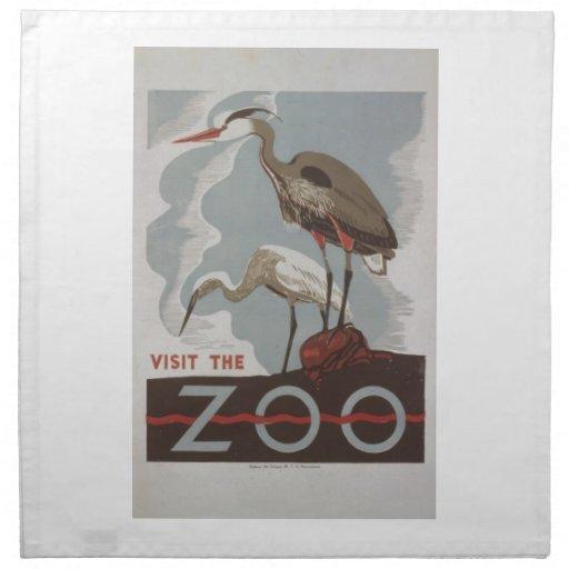 WPA - The Zoo Printed Napkins