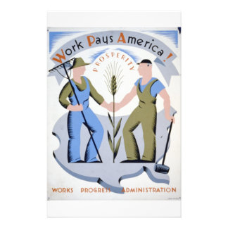 WPA - trabajo América Tarjeta Publicitaria