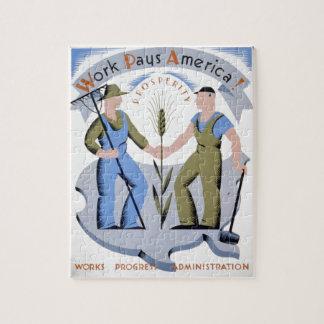 WPA - trabajo América Puzzle Con Fotos