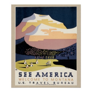 WPA Travel Poster Montant