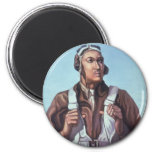 WPA Tuskegee African American Airmen of WW2 2 Inch Round Magnet