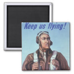 WPA Tuskegee African American Airmen of WW2 2 Inch Square Magnet