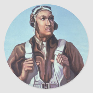 WPA Tuskegee African American Airmen of WW2 Round Sticker
