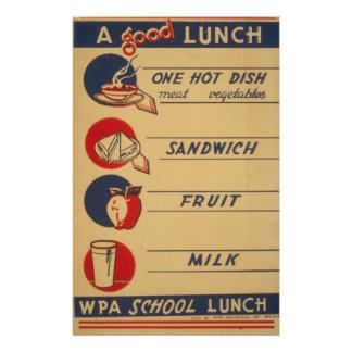 WPA - un buen almuerzo Tarjeton