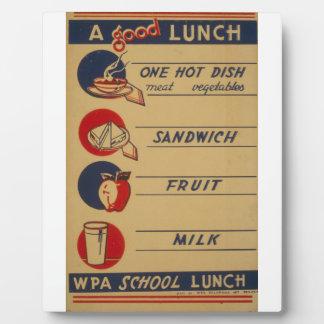 WPA - un buen almuerzo Placa