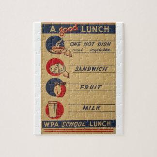 WPA - un buen almuerzo Rompecabeza Con Fotos