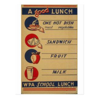 WPA - un buen almuerzo Postal