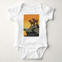 WPA Vintage National Parks Wildlife Travel Baby Bodysuit