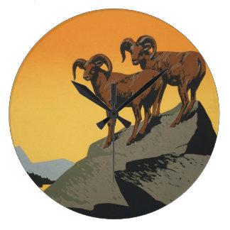 WPA Vintage National Parks Wildlife Travel Large Clock