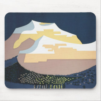 WPA Vintage Travel Poster Montana See America Mouse Pad