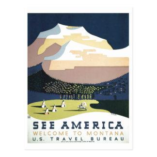 WPA Vintage Travel Poster Montana See America Postcard