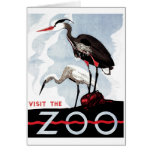 "WPA - ""Visit the Zoo"" Card"