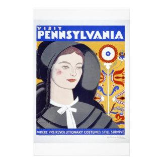 WPA - visita Pennsylvania Tarjetas Publicitarias