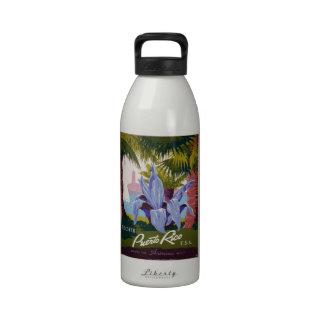 WPA - visita Puerto Rico Botella De Agua Reutilizable