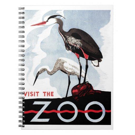 """WPA - """"visite cuaderno del parque zoológico"""""""