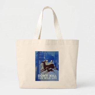WPA - Wildlife Large Tote Bag