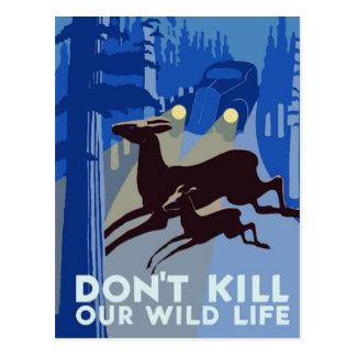 WPA Wildlife Postcard