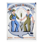 WPA - Work America Postcard