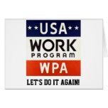 WPA Works Progrerss Admin. LET'S DO IT AGAIN! Card