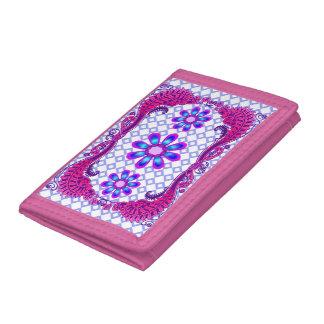 WQ Fashion Flower Jewel Look Wallet Pink