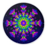 WQ Kaleidoscope Ceramic Knob Purple lovers
