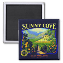 WQ MAGNET : Sunny Cove Fruit Crate Label