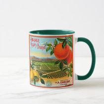 WQ MUG CUP : Orange Blossom Crate Label