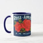 WQ MUG CUP : Rose Apples Crate Label