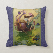 WQ PILLOW SM: Sea Nymph on Seashell Boat