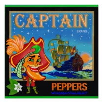 WQ Toys POSTER: Captain Cayenne Pepper Crate Label