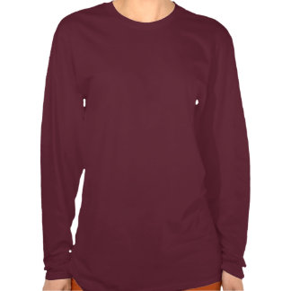 WQMANS CONTOURED SLEEVE HANES ORCHID MAROON T SHIRTS