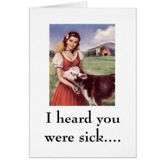 WR306086, oí que usted estaba enfermo…. Tarjetas